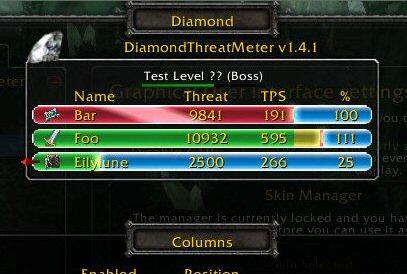 TBC2.43版DiamondThreatMeter仇恨插件 功能类似omen